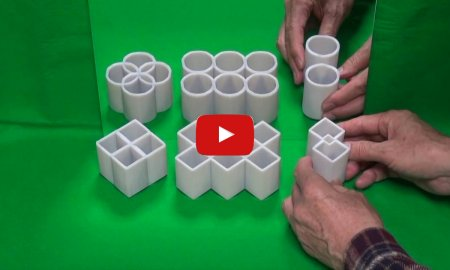 Cylinder Shape Optical Illusion