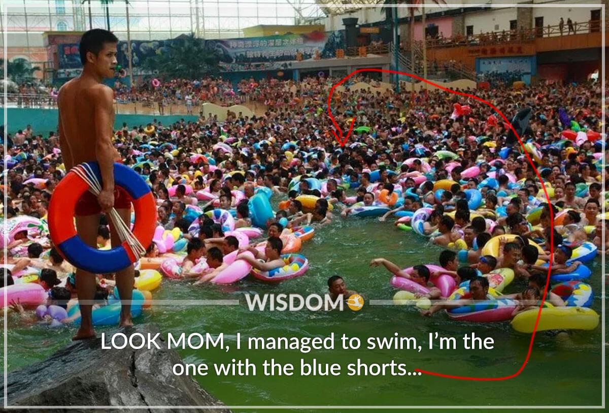 Look Mom I Managed To Swim