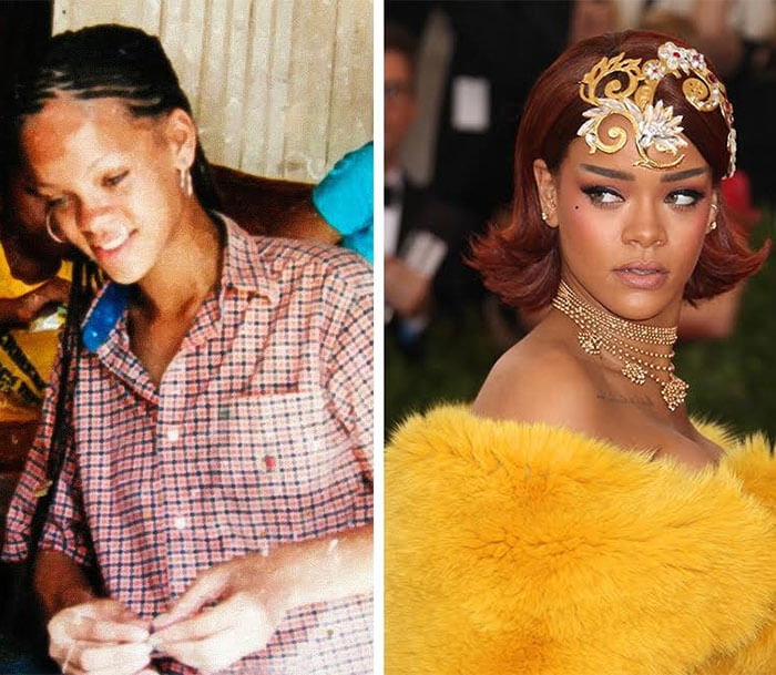 Rihanna Before And After