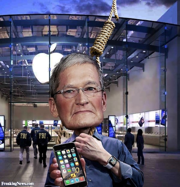 Fbi Puts A Noose Around Tim Cook S Head