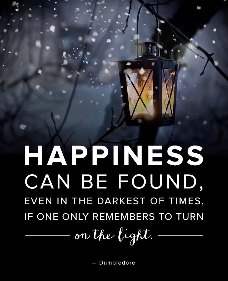 Happiness Can Be Found In The Darkest Of Times