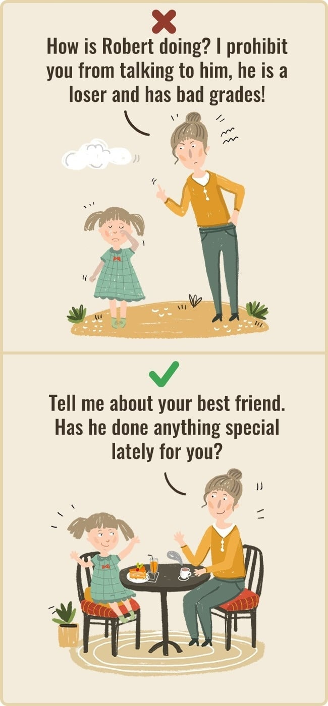 Ask Child About Friends