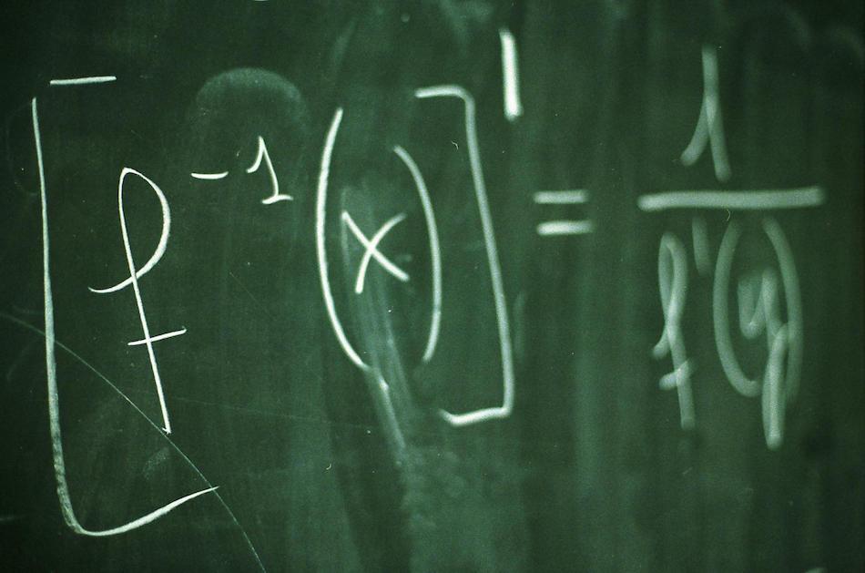 Chalkboard Math Problem