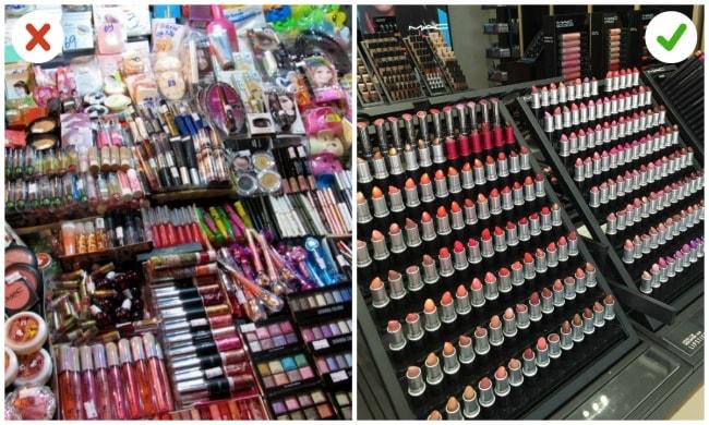 Fake Versus Original Cosmetics