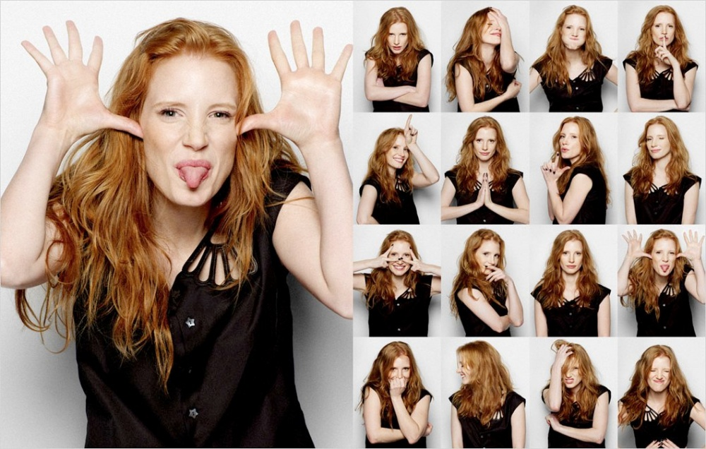 Jessica Chastain Photo Booth