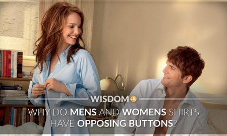 Mens Womens Shirts Opposing Buttons