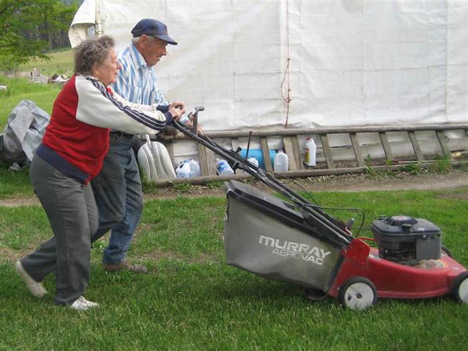 Mowing The Lawn Together