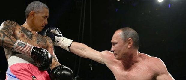 Putin Obama Stare Fight 07