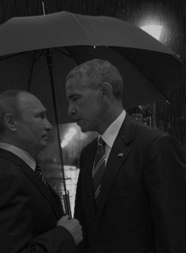Putin Obama Stare Fight 08