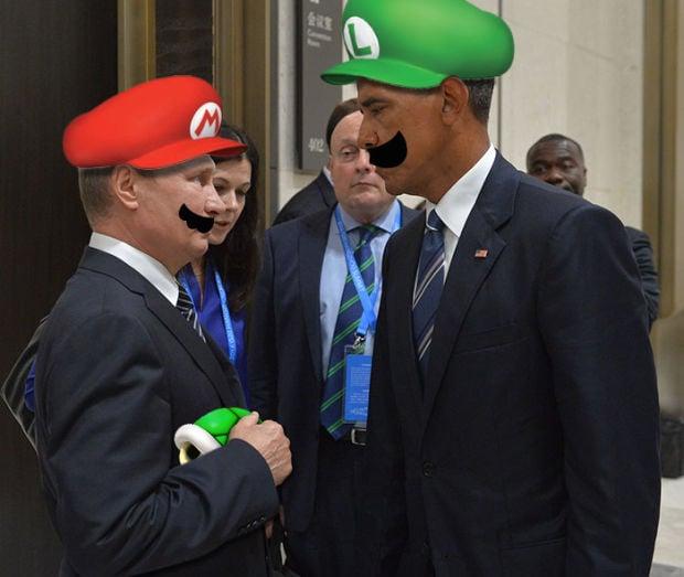 Putin Obama Stare Fight 09