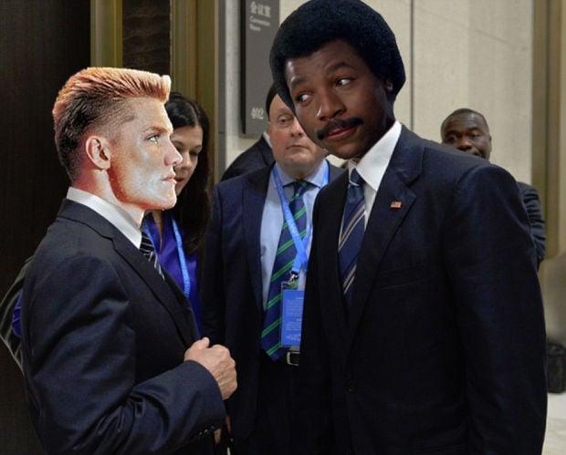 Putin Obama Stare Fight 11