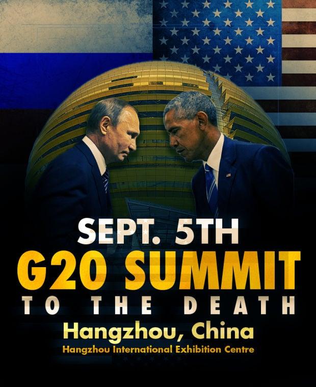 Putin Obama Stare Fight 12