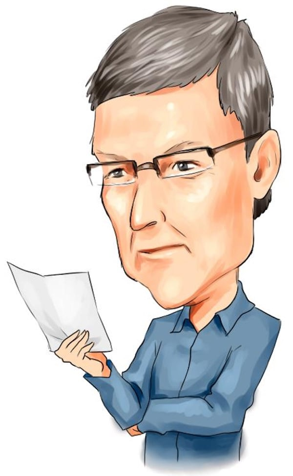 Tim Cook Illustration Reading