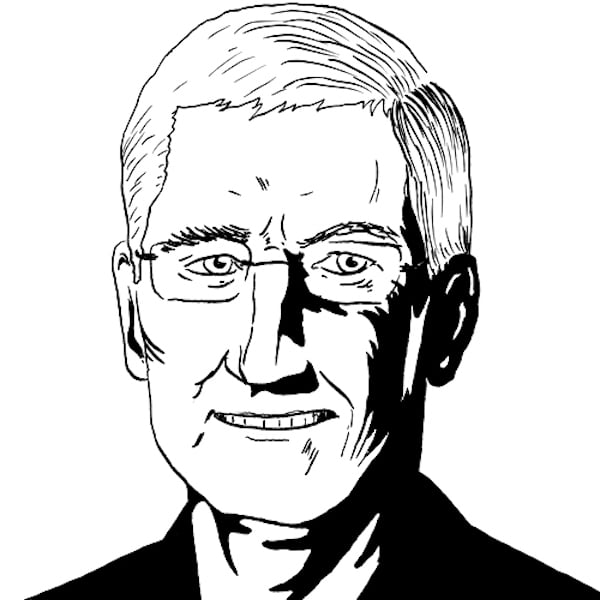 Tim Cook Lines Drawing