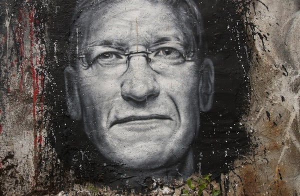 Tim Cook Wall Grafitti