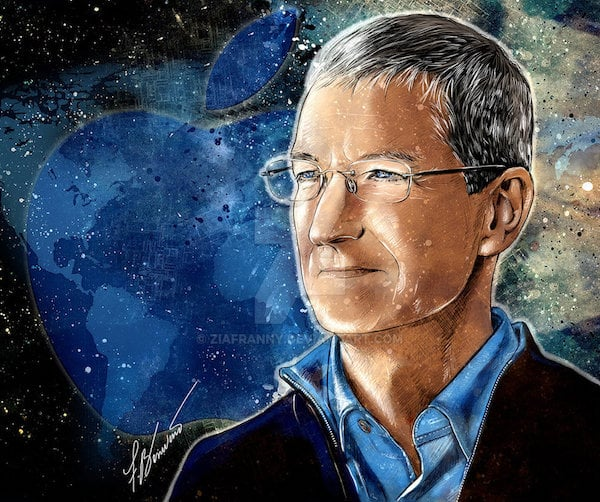 Tim Cook Apple By Francesca Benevento By Ziafranny