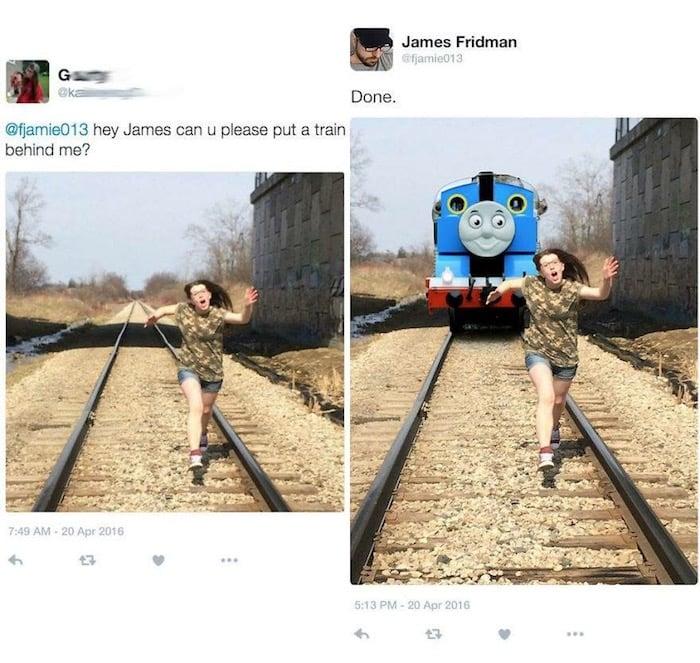 14 Photoshop Horror Train
