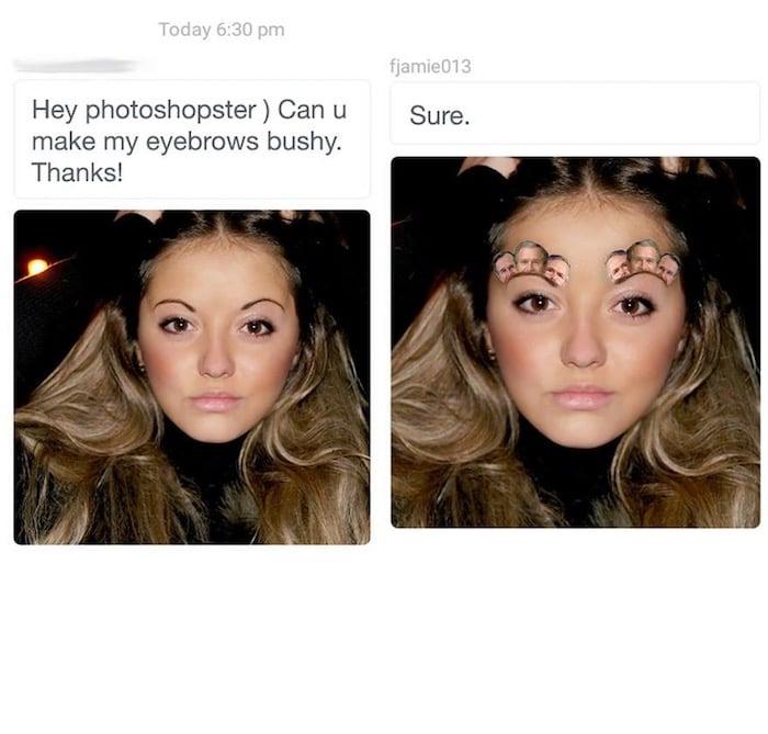 7 Photoshop Bushy Eyebrows