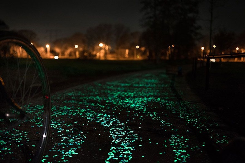 Bike Path Glow In The Dark