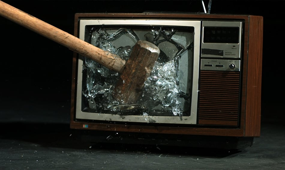 Hammer Smashing Tv