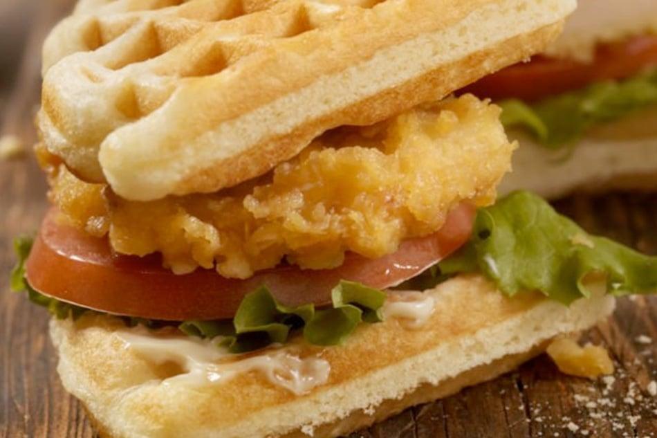 Kfc Burger Style Waffles