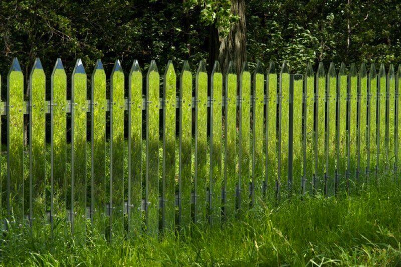 Mirror Garden Fence