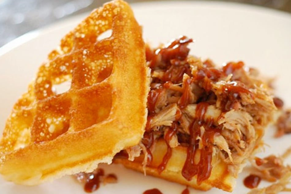 Pork Stuffed Waffles